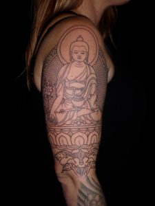 Buddha Sleeve Tattoo