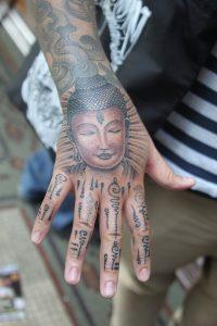 Buddha Tattoo on Hand