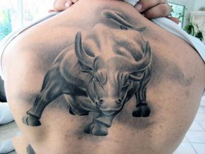 Bull Tattoos on Back