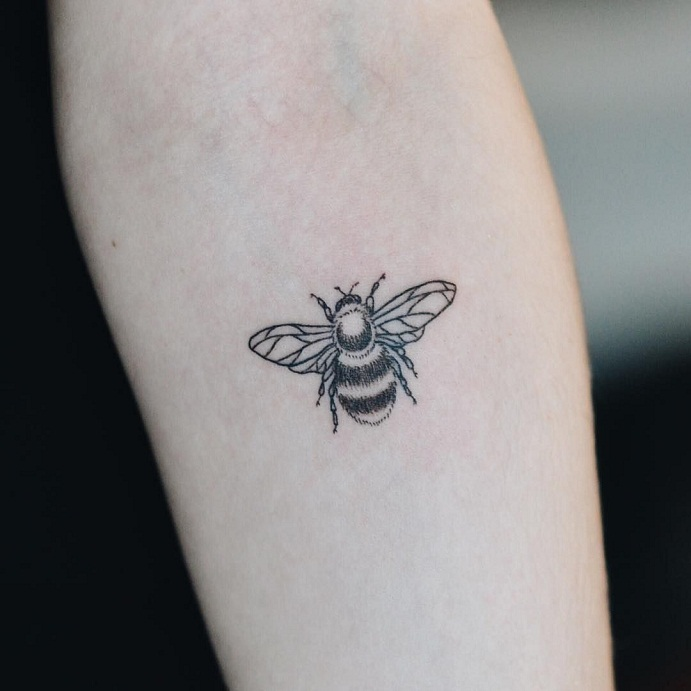 Bumble Bee Tattoos Designs Ideas And Meaning Tattoos For You