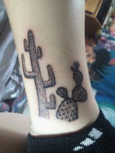 Cactus Tattoo Black