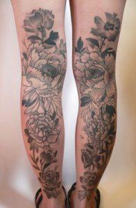 Calf Tattoos for Ladies