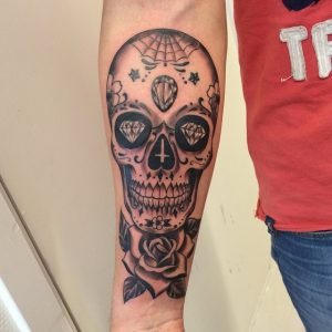 Candy Skull Tattoo Pictures