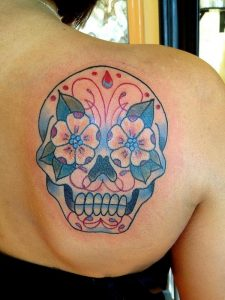 Candy Skull Tattoos for Women