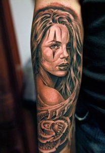Chicano Girl Tattoo