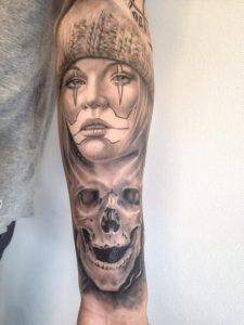 Chicano Skull Tattoos