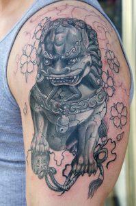 Chinese Foo Dog Tattoo