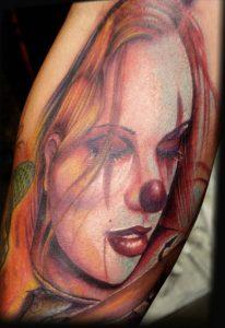Clown Girl Tattoo