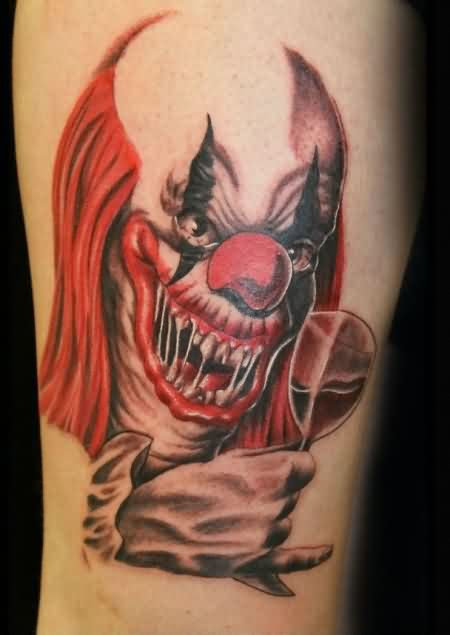 clown tattoos designs  ideas and meaning