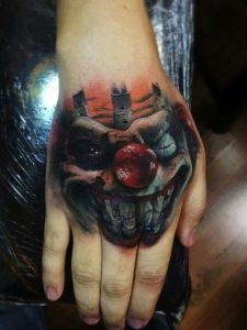 Clown Tattoos on Hand