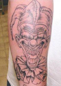 Crazy Clown Tattoos