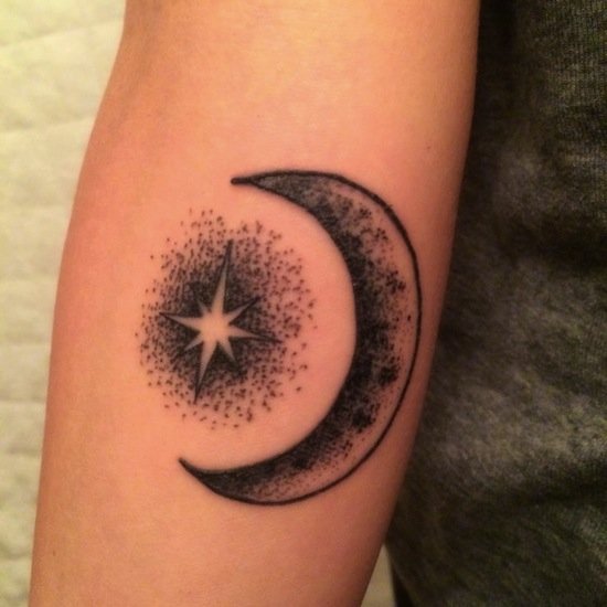 Stars Tattoo Meaning And Designs: Crescent Moon Tattoos Designs, Ideas And Meaning
