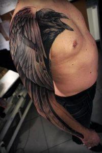 Crow Tattoo Sleeve