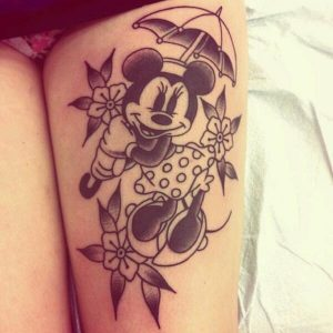 Disney Thigh Tattoos