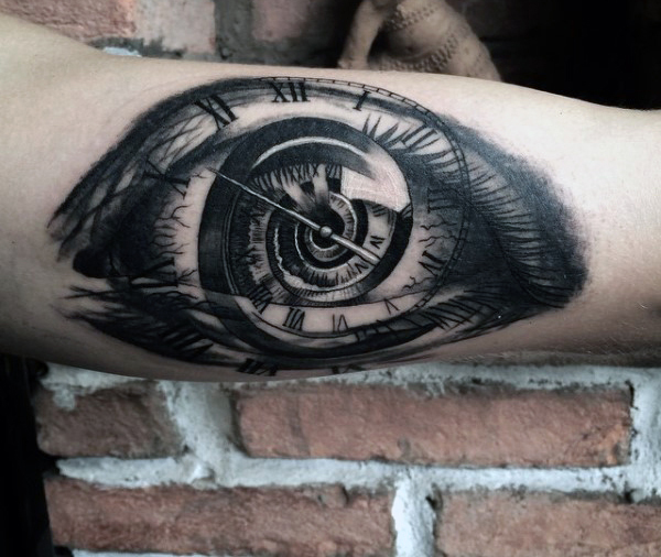 Clock tattoos designs ideas and meaning tattoos for you for Eye with clock tattoo