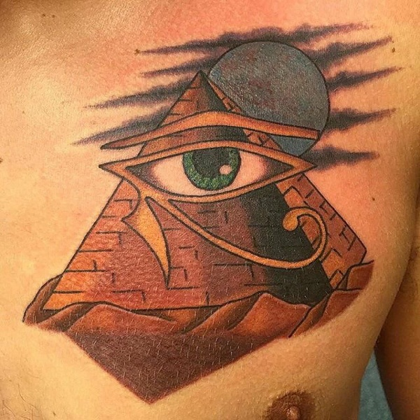 Pyramid Tattoos Designs Ideas And Meaning: Eye Of Horus Tattoos Designs, Ideas And Meaning