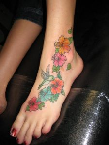 Feet Tattoos Flowers