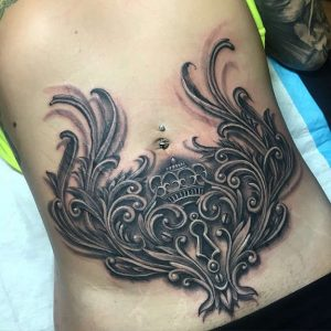 Female Belly Tattoos