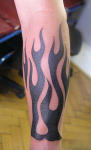 Fire Flames Tattoos