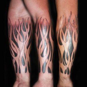 Fire Sleeve Tattoo