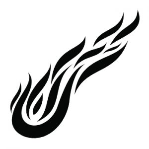 Fire Tattoos Black and White