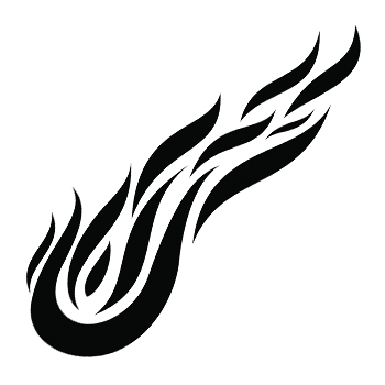 Fire tattoos designs ideas and meaning tattoos for you for Black and white flame tattoo