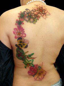 Floral Back Tattoos