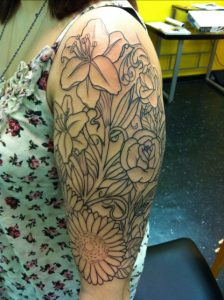 Floral Half Sleeve Tattoos