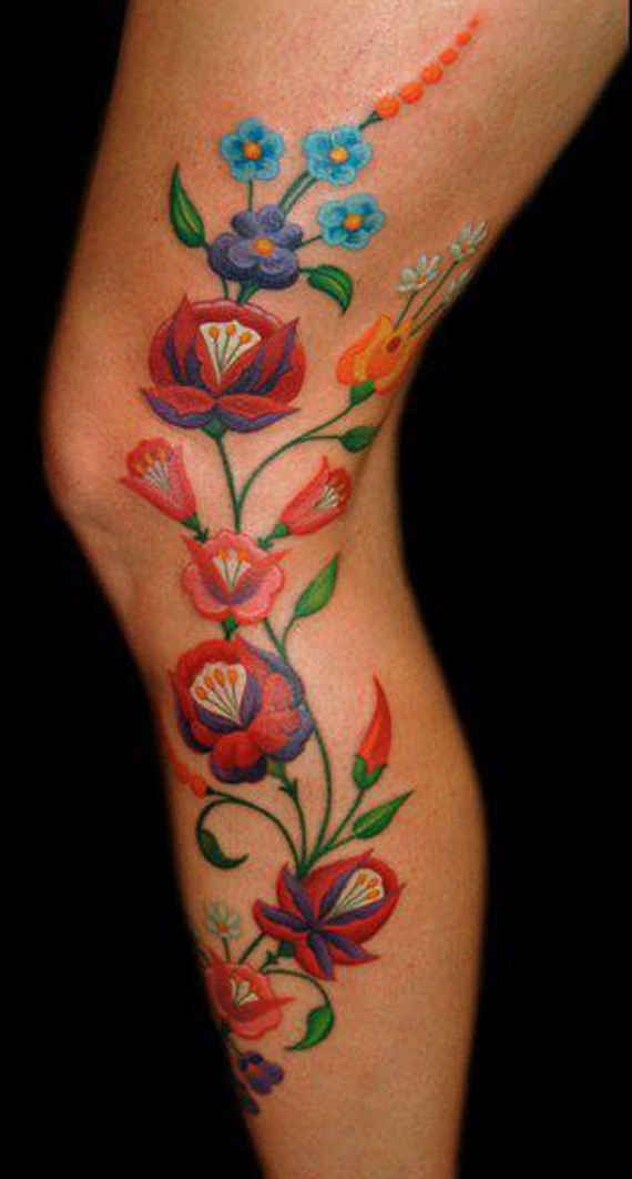 Flower Leg Tattoos: Floral Tattoos Designs, Ideas And Meaning