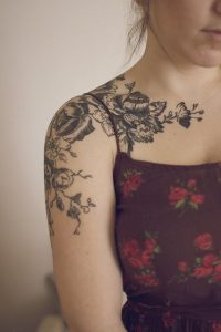 Floral Shoulder Tattoo