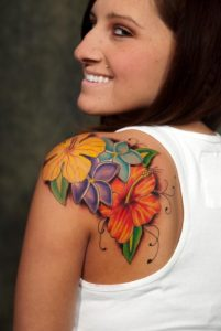 Floral Shoulder Tattoos
