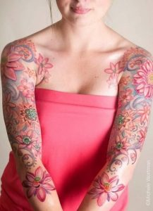 Floral Tattoo Sleeve