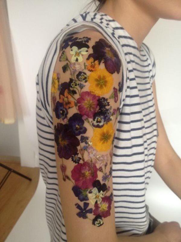 sleeve tattoos floral - photo #35