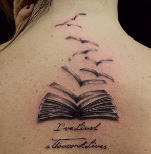 Flying Book Tattoos
