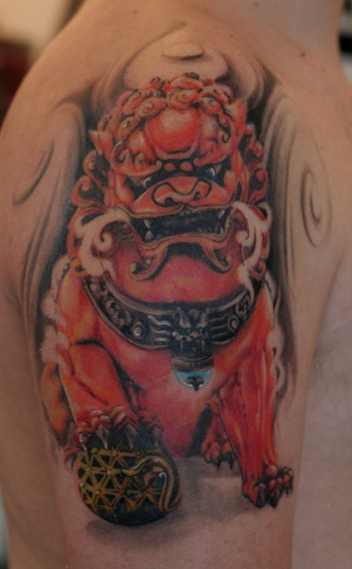 Foo Dog Tattoos Designs Ideas And Meaning Tattoos For You