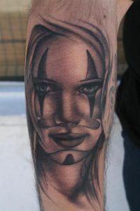 Girl Clown Tattoos