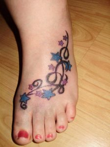 Girl Feet Tattoos