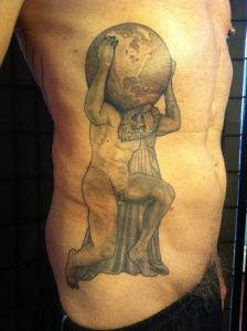 Greek God Atlas Tattoo