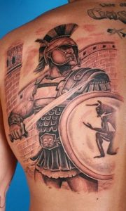 Greek Warrior Tattoo