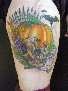 Halloween Pumpkin Tattoos