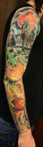 Halloween Sleeve Tattoos