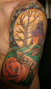 Halloween Tattoo Sleeve