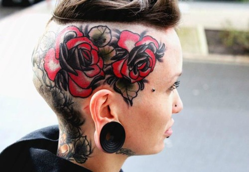 Head tattoos designs ideas and meaning tattoos for you for Girl head tattoo