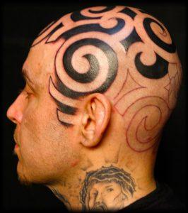 Head Tattoos for Men