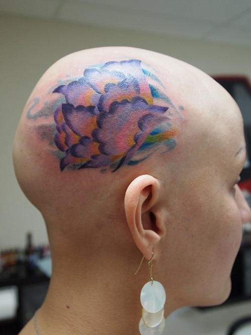 Head tattoos designs ideas and meaning tattoos for you for Tattoo bald spot