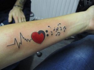 Heartbeat Tattoos for Guys