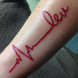 Heartbeat Tattoos on Arm