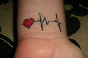 Heartbeat Tattoos on Wrist