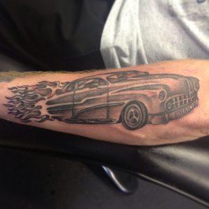 Hot Rod Flames Tattoo