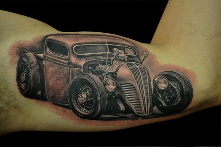 Hot rod tattoos designs ideas and meaning tattoos for you for Hot rod tattoos